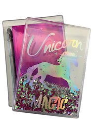 Unicorn Magic Glitter Stationery Box