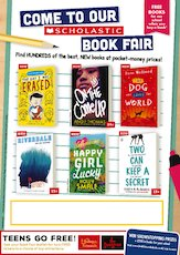 Editable poster scholastic secondary book fair 1839875