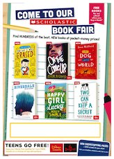 Poster scholastic secondary book fair 1839978