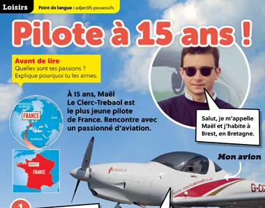 Pilote à 15 ans !