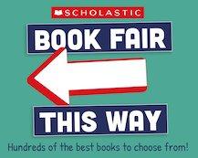 Left arrow scholastic secondary book fair 1839922