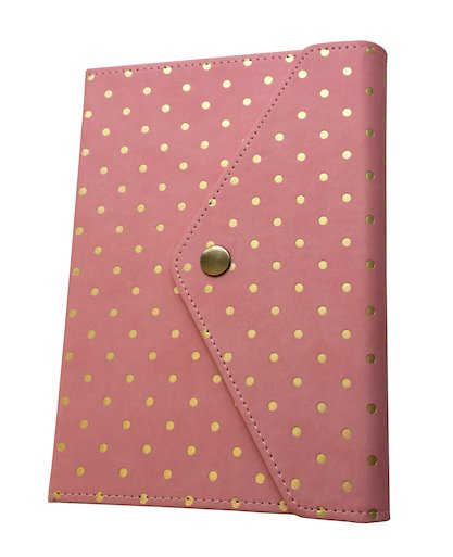 Rose Gold Polka Dot Journal