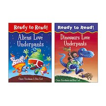 Ready to Read! Aliens Love Underpants Pair