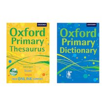 Oxford Primary Dictionary and Thesaurus Pair