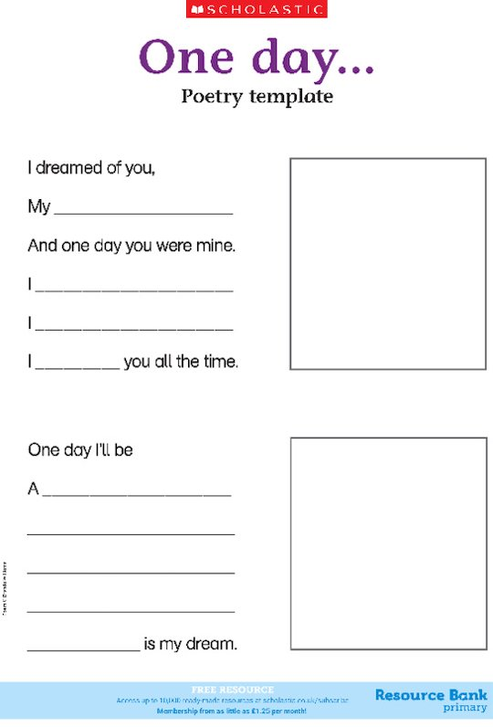 One day... (poem template)