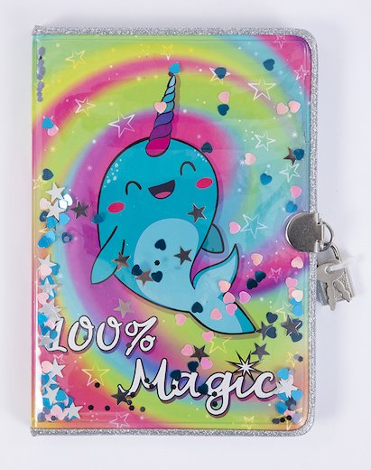 Narwhal Confetti Journal