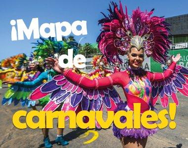 ¡Mapa de carnavales!