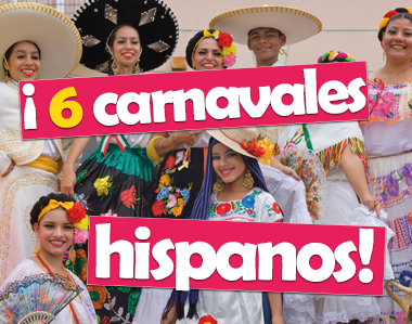 6 carnavales hispanos