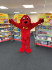Clifford the Big Red Dog at a Scholastic Book Fair
