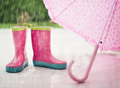 Wellies and an umbrella