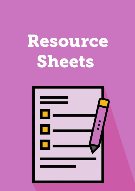 Resource Sheets