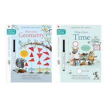 Usborne Key Skills Wipe-Clean Pair
