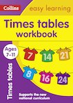 Collins Easy Learning: Times Tables Workbook (Ages 7-11)