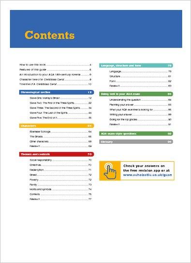 GCSE 9-1 Study Guide - A Christmas Carol - Contents