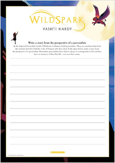 Wildspark Activity Sheet - Write a story from the perspective of a personifate