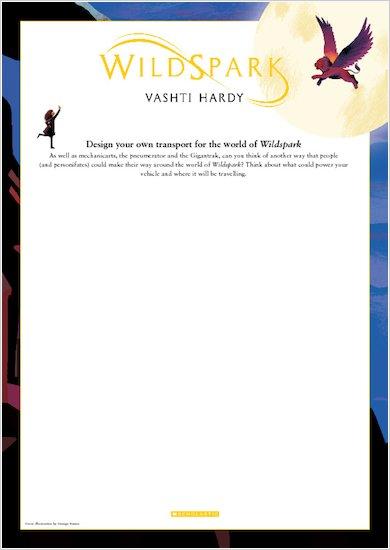Wildspark Activity Sheet - Design your own transport for the world of Wildspark