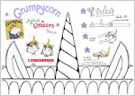Grumpycorn - Colour your own magical unicorn horn (1 page)