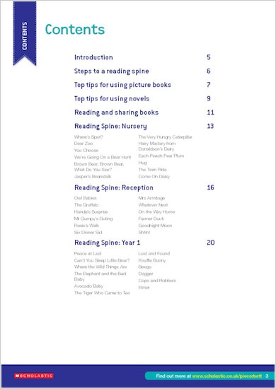 Pie Corbett Reading Spine Teacher's Guide: Contents