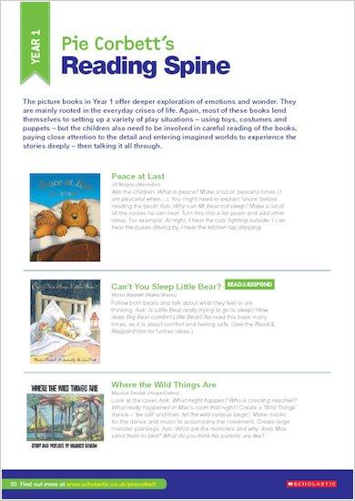 Pie Corbett Reading Spine Teacher's Guide: Page 20