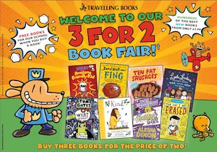 Image result for 3 for 2 travelling book fair