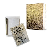 Glitter Journal and Stationery Pack