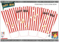Daisy and Bear - Printable Popcorn Box!