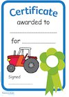 'Fun on the farm' certificates