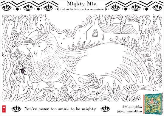 Mighty Min Colouring Activity - Owl