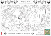Mighty Min Colouring Activity 2 - Garden