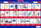 French picture dictionary – poster