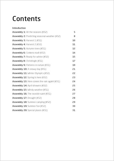 20 Best Assemblies: Seasons - Sample Pages