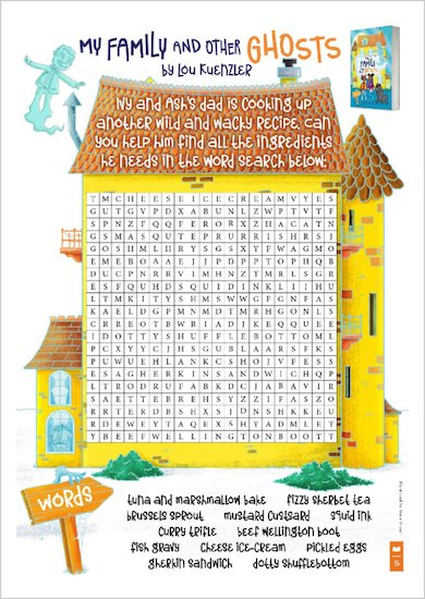 My Family and Other Ghosts - Wordsearch