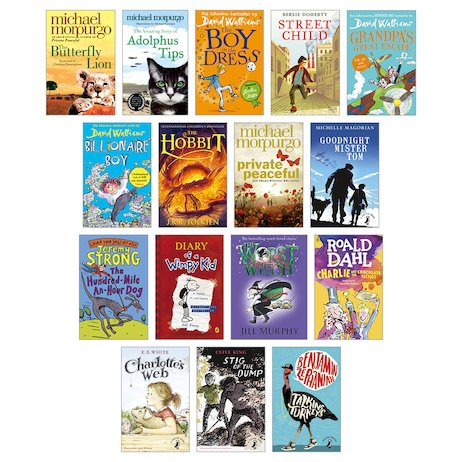 Top 100 Childrens Books for Teachers Years 3-6 Pack x 64