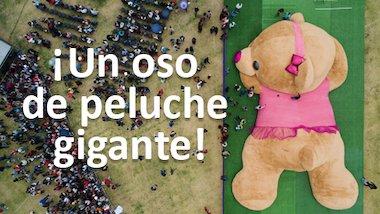 ¡Un oso de peluche gigante!