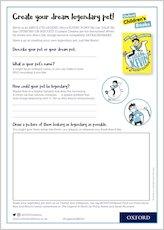 Create a legendary pet activity sheet uploaded 1899631