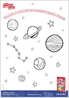 Planet Stan - Colouring activity