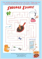 Ten Fat Sausages - Maze activity