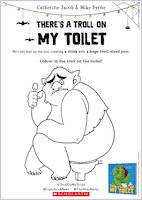 There's a Troll on my Toilet - Colouring Activity