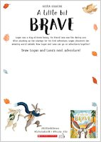 A Little Bit Brave activity sheet - Draw Logan and Luna