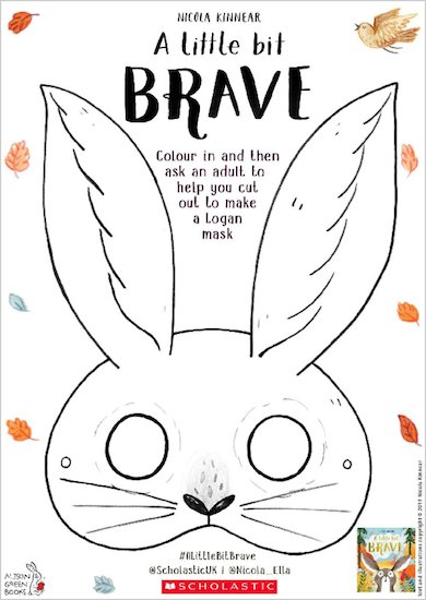 A Little Bit Brave activity sheet - Logan mask