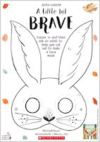 A Little Bit Brave activity sheet - Luna mask