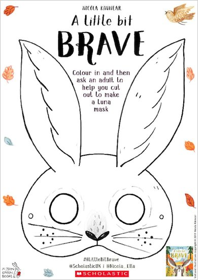A Little Bit Brave activity sheet - Luna mask
