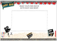Daisy and Bear activity sheet - make your own movie