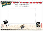 Daisy and Bear activity sheet - make your own movie (2 pages)