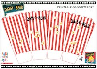 Daisy and Bear activity sheet - make your own popcorn box