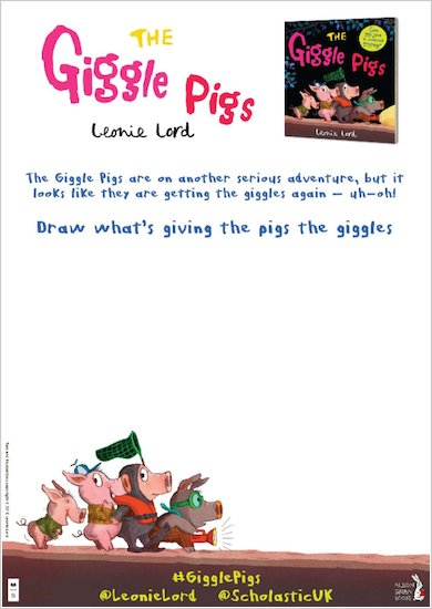The Giggle Pigs activity sheet - drawing