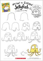 Grumpycorn activity sheet - how to draw Jellyfish
