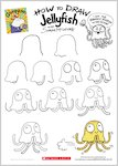 Grumpycorn activity sheet - how to draw Jellyfish (1 page)