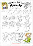 Grumpycorn activity sheet - how to draw Mermaid (1 page)