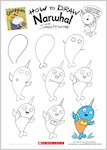 Grumpycorn activity sheet - how to draw Narwhal (1 page)